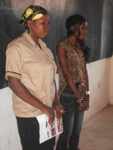 Awa with Fatoumata