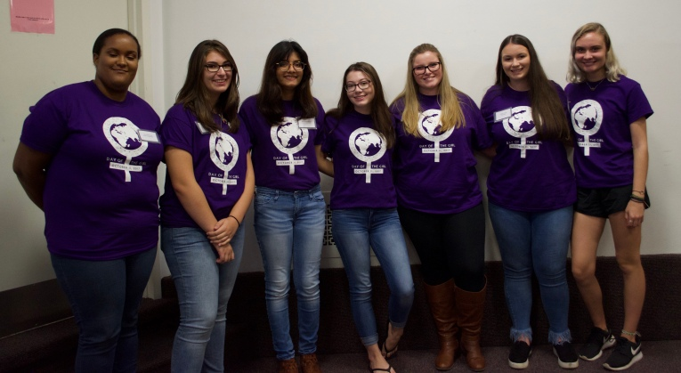 Members of the Bay Shore High School Day of the Girl Committee (photo by Diana R.)